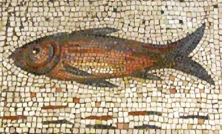 Fishmosaic in the Detroit Institute of Arts