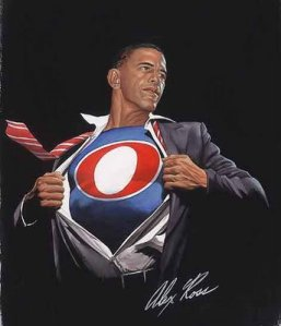 Alex Ross' take on Obama (click on pic to order T-Shirt)