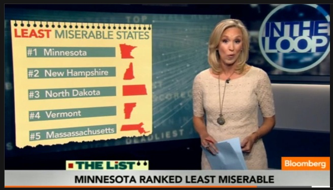 Bloomberg's Least Miserable States of 2012