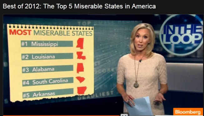 Bloomberg's Top Five Miserable States of 2012