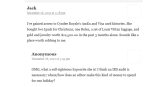 more from Fountain post - commenter claims to have Cyndee Royale's AmEx and Visa card histories